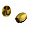 Metal Oval Tube 4X4.6mm with 2.2mm Hole Antique Brass